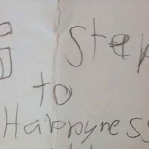 De 5 ontroerende stappen naar geluk volgens dit jongetje van 8