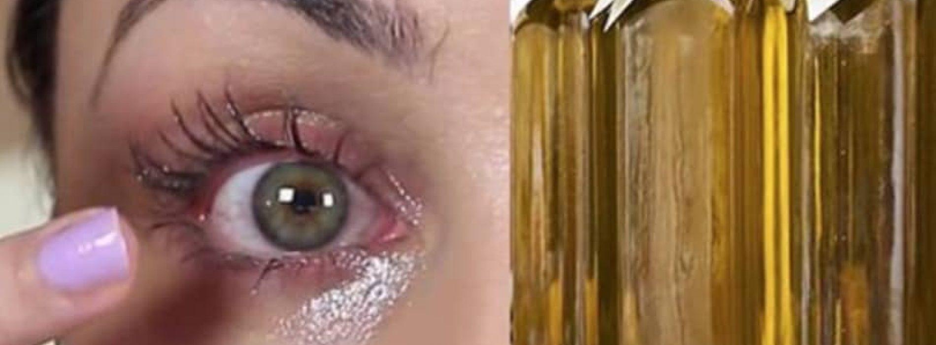 Ze smeert altijd pure olijfolie rondom haar ogen om DEZE reden!