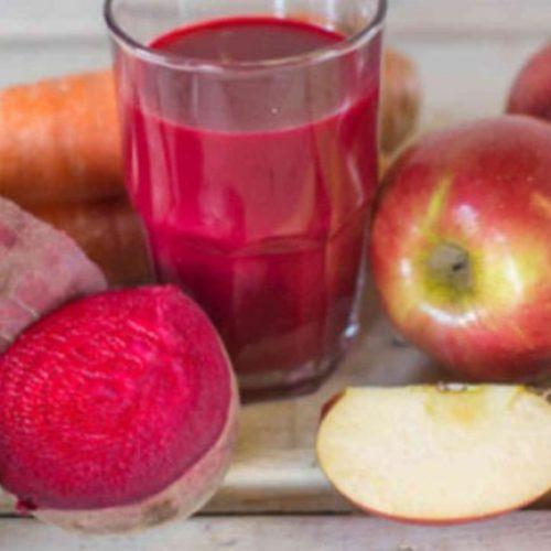 Wat krijg je als je bieten, wortelen en appels mengt? Een glas sap dat vele ziekten vernietigt!