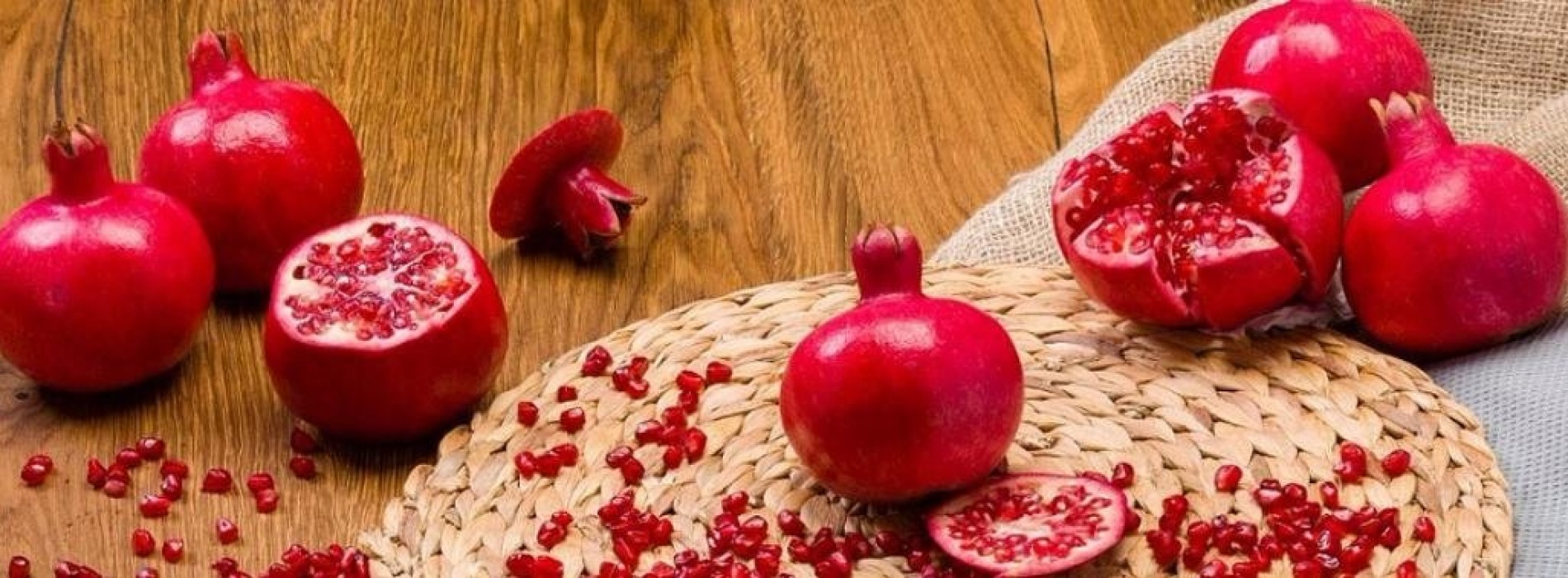 Eet granaatappels en veroudering stopt