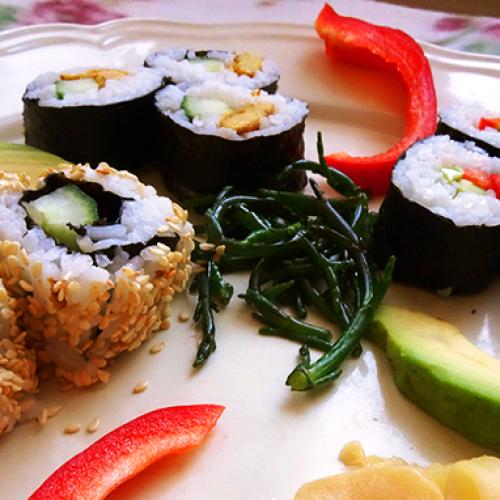 Recept vegetarische sushi