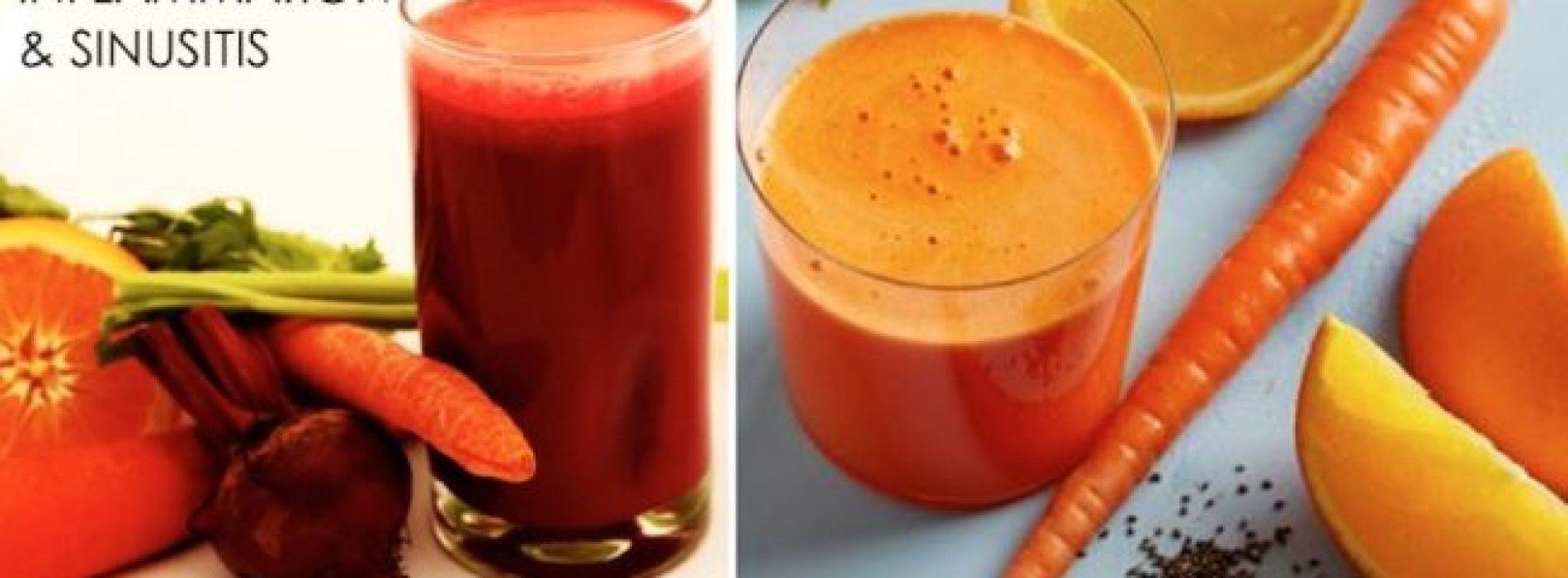 De 3 beste sappen die ontstekingen aanpakken, slijm opbreken en Sinus infecties genezen