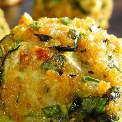 Courgette Knoflook hapjes