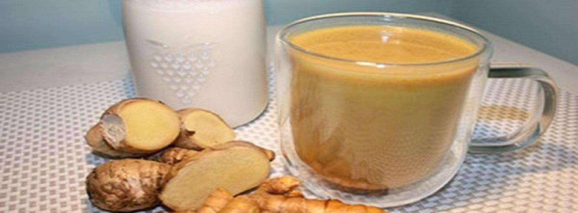 Verwijder lever gifstoffen snel door gember en kurkuma te mengen met kokosmelk