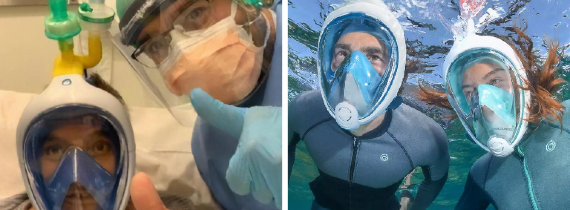 Ingenieurs maken ventilatoren van snorkelmaskers om het coronavirus te bestrijden